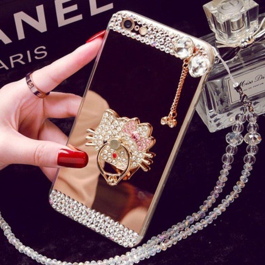 MHStore OPPO R9s Phone Case R11 A59 Cermin TPU Diamond R9plus Creativeprotective Cover A39 R7sa57 (Warna: Perlu Lanyard Contactcustomer Harga/Ukuran: OPPO A39)-Intl