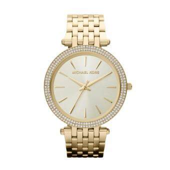 Harga Michael Kors Women's Darci Crystal Bezel Gold-Tone Watch MK3191