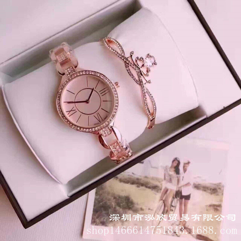 Micro business sources recruit agents a sells casual fashion diamond womens watches two piece quartz ladies suits Malaysia