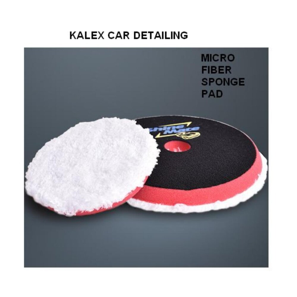 Microfiber Sponge Pad for Dual Action DA Polisher as Ultra Finishing Marring removal