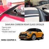 Broz Mini Cooper S Samurai Carbon Rear Top Windscreen OEM Glass Spoiler (4.5cm)