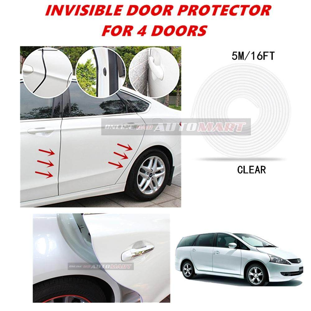 Mitsubishi Grandis - 16FT/5M (CLEAR) Moulding Trim Rubber Strip Auto Door Scratch Protector Car Styling Invisible Decorative Tape (4 Doors)