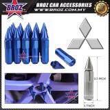 Broz Mitsubishi High Quality Aluminum Universal M12 x P1.5 Wheel Nut - Blue (20PCS)