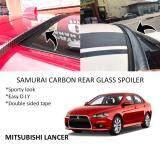 Broz Mitsubishi Lancer Samurai Carbon Rear Top Windscreen OEM Glass Spoiler (4.5cm)