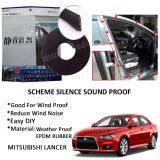 Mitsubishi Lancer SCHEME SILENCE (Double D) DIY Air Tight Slim Rubber Seal Stripe Sound & Wind Proof & Sound Proof for Car (4 Doors)