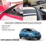 Broz Mitsubishi Mirage Samurai Carbon Rear Top Windscreen OEM Glass Spoiler (4.5cm)