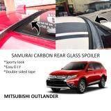 Broz Mitsubishi Outlander Samurai Carbon Rear Top Windscreen OEM Glass Spoiler (4.5cm)