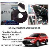 Mitsubishi Outlander SCHEME SILENCE (Double D) DIY Air Tight Slim Rubber Seal Stripe Sound & Wind Proof & Sound Proof for Car (4 Doors)