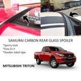 Broz Mitsubishi Triton Samurai Carbon Rear Top Windscreen OEM Glass Spoiler (4.5cm)