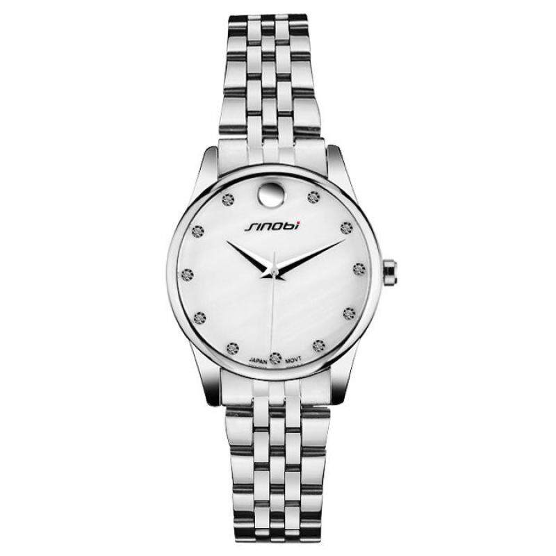 moob 2016 new stainless steel and exquisite high-end fashion lovers in the table SINOBI genuine quartz watch (WhiteSilver) Malaysia