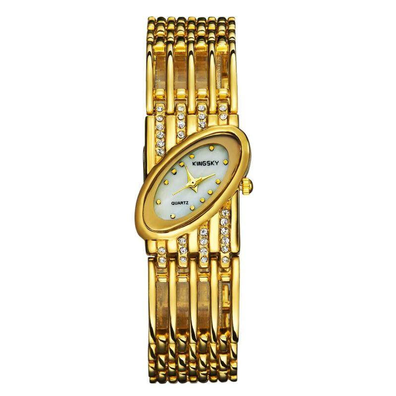 moob Kingsky genuine hand twist drill watch quartz watch factory direct foreign trade import machine color wholesale (Gold) Malaysia