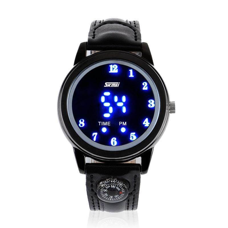 moob Moments of beauty fashion LED watch waterproof watch men and women watch creative personality gift watch Watch (Black) Malaysia