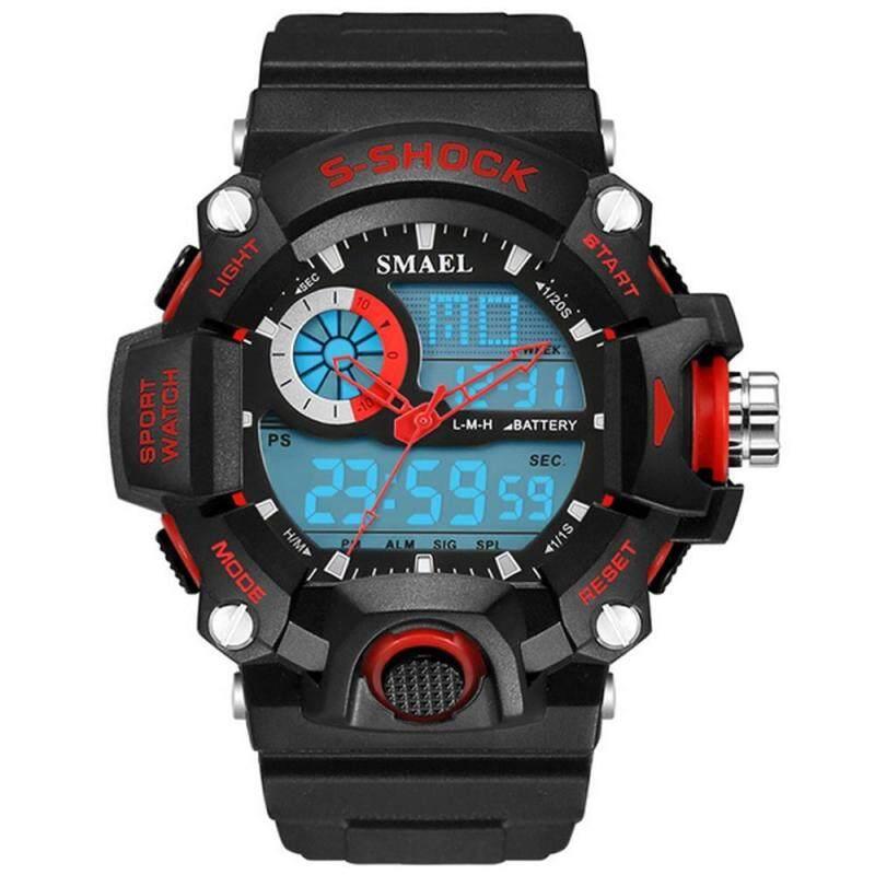 moob Sport Mens Outdoors Dual Display Waterproof Shockproof Multi-functional Watch Malaysia