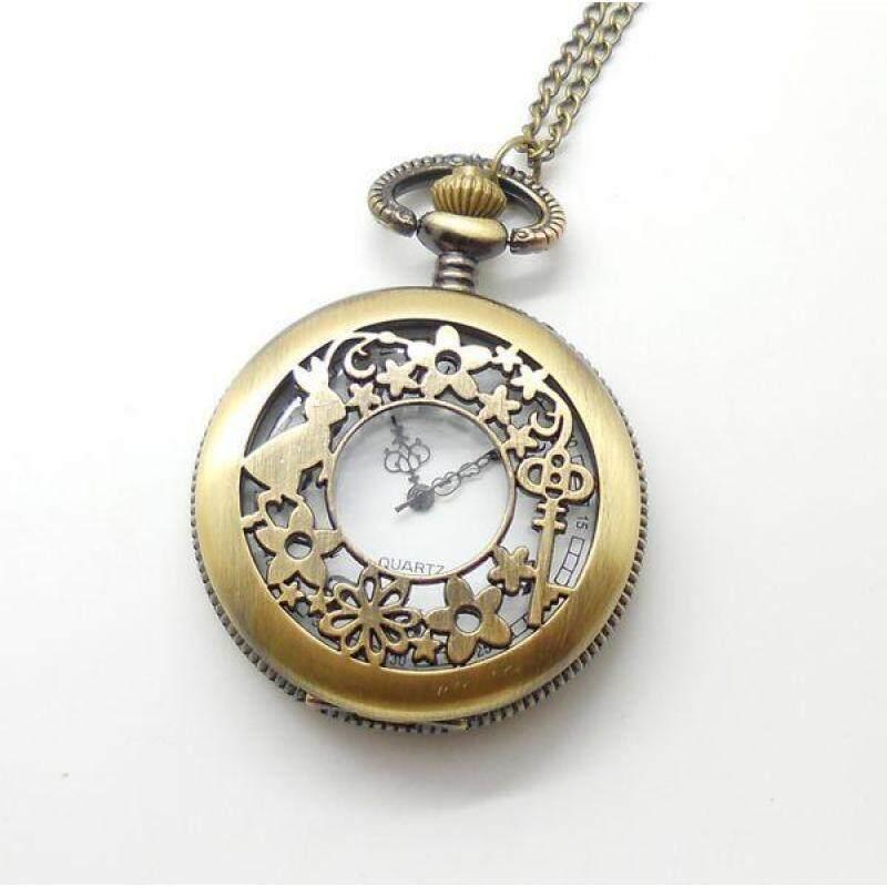 moob Watch pocket vintage bronze bunny rabbit key fashion quartz wholesale hot sale free shipping (Bronze) Malaysia
