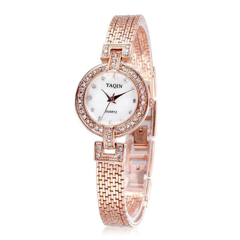 moob Yaqin genuine fashion bracelet watch full diamond watch Rose Miss Jin Bailing (Gold) Malaysia