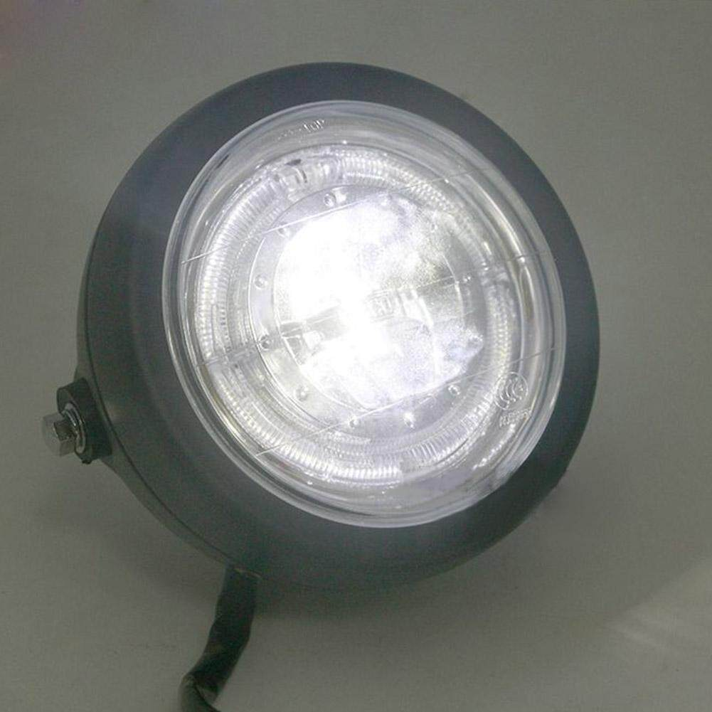 ... Sepeda Motor Lampu Depan Sudut Mata Headlamp LED dengan Braket + Grille Sarung Aksesoris-Internasional