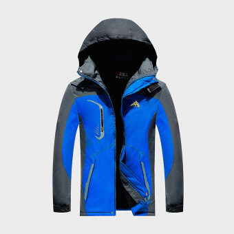 Harga Motorcycle ski-wear add hair thickening cotton-padded clothescoat(blue)