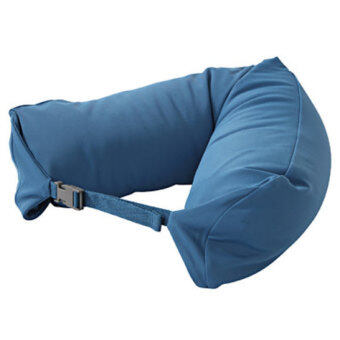 Harga MUJI Inspired Well Fitted (Microbead) Travel Pillow BLUE