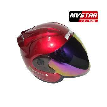Harga Mv Star Helmet Monster Rainbow Visor - Black, Red,