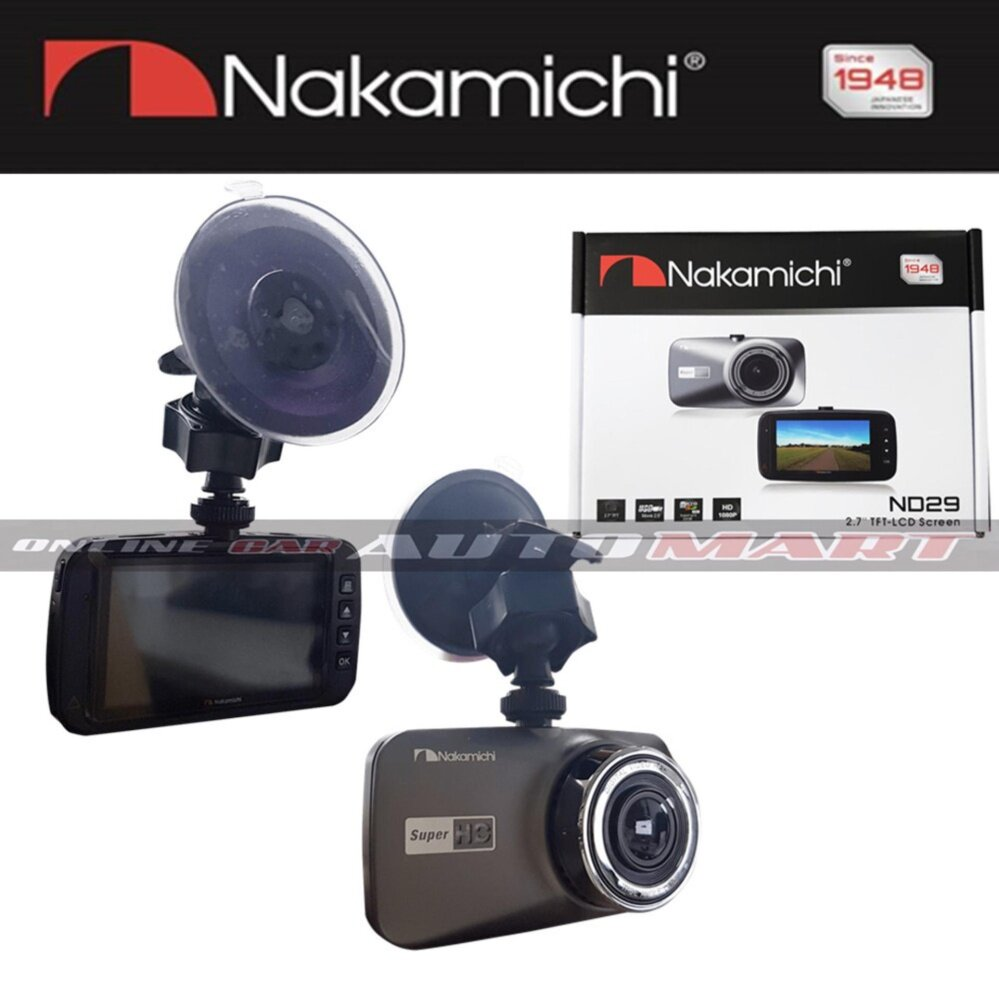 "NAKAMICHI ND29 2.7"" 1080P Full HD DVR Car Dash Cam Night Vision G-Sensor"