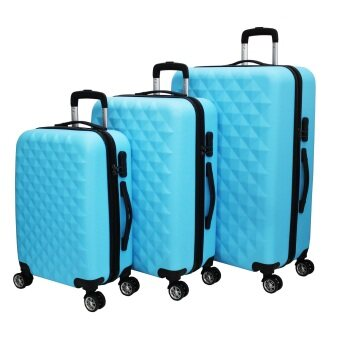 Navitass Set of 3 Deluxe 8-Wheels Luggage (Sky Blue)