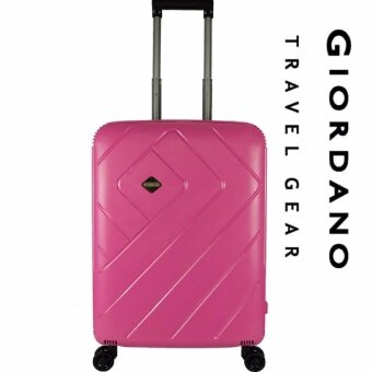NEW Giordano GA9600 24 Inch UNBREAKABLE PP Hard Cases Trolley with Clip Lock (Pink)