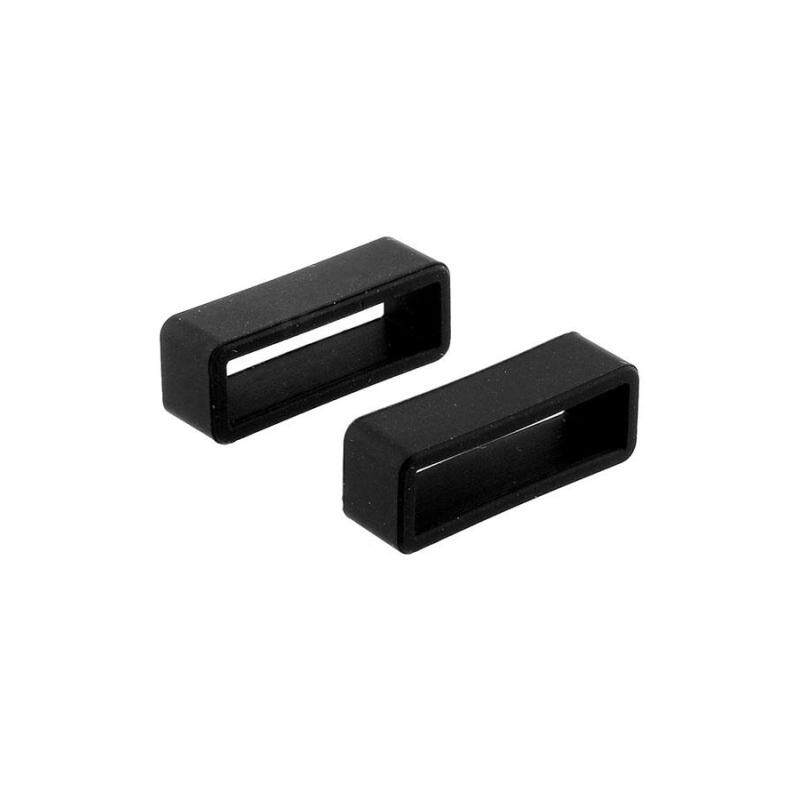 New Soft Black Silicone Watch Strap Hoop Loop Keeper Buckle Holder Locker 22mm Malaysia