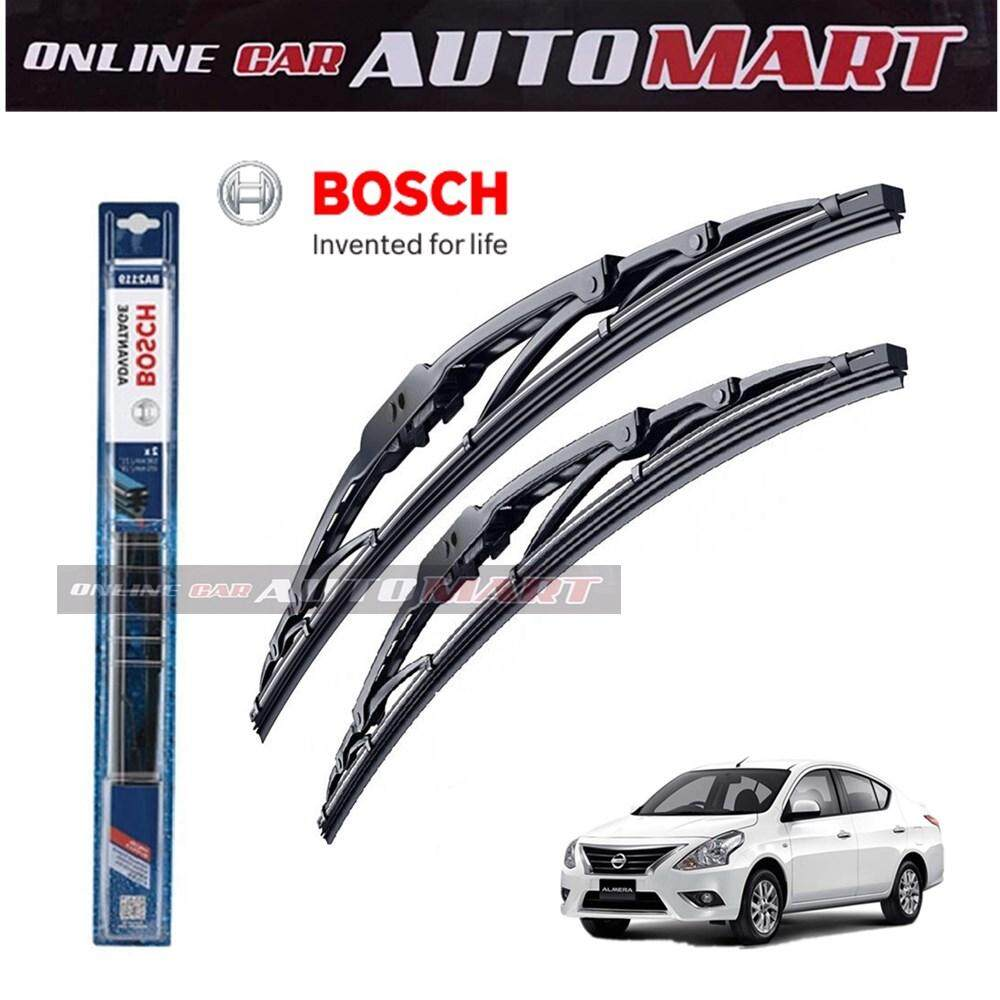 Nissan Almera /Perodua Axia - Bosch Advantage Wiper Blade (Set) - Compatible only with U-Hook Type - 14 inch & 21 inch