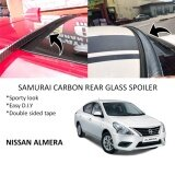 Broz Nissan Almera Samurai Carbon Rear Top Windscreen OEM Glass Spoiler (4.5cm)