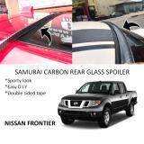 Broz Nissan Frontier Samurai Carbon Rear Top Windscreen OEM Glass Spoiler (4.5cm)