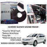Nissan Livina SCHEME SILENCE (Double D) DIY Air Tight Slim Rubber Seal Stripe Sound & Wind Proof & Sound Proof for Car (4 Doors)