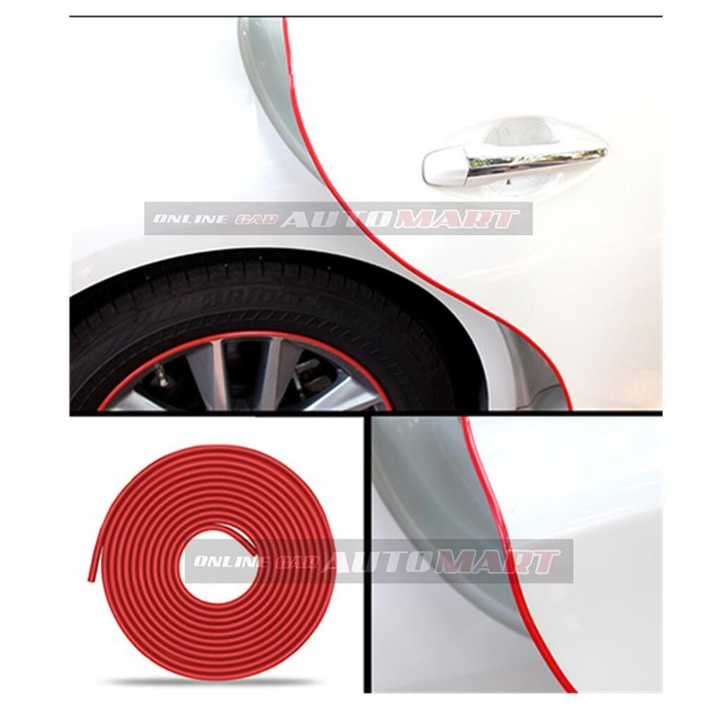 Nissan Skyline R33/R34/R35 - 16FT/5M (RED) Moulding Trim Rubber Strip Auto Door Scratch Protector Car Styling Invisible Decorative Tape (4 Doors)