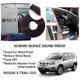 Nissan X-Trail Old / 2015 SCHEME SILENCE (Double D) DIY Air Tight Slim Rubber Seal Stripe Sound & Wind Proof & Sound Proof for Car (4 Doors)