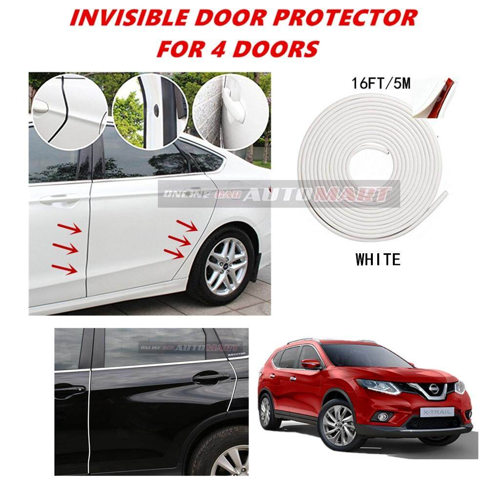 Nissan X-Trail Old/X-Trail Yr 2015 - 16FT/5M (WHITE) Moulding Trim Rubber Strip Auto Door Scratch Protector Car Styling Invisible Decorative Tape (4 Doors)