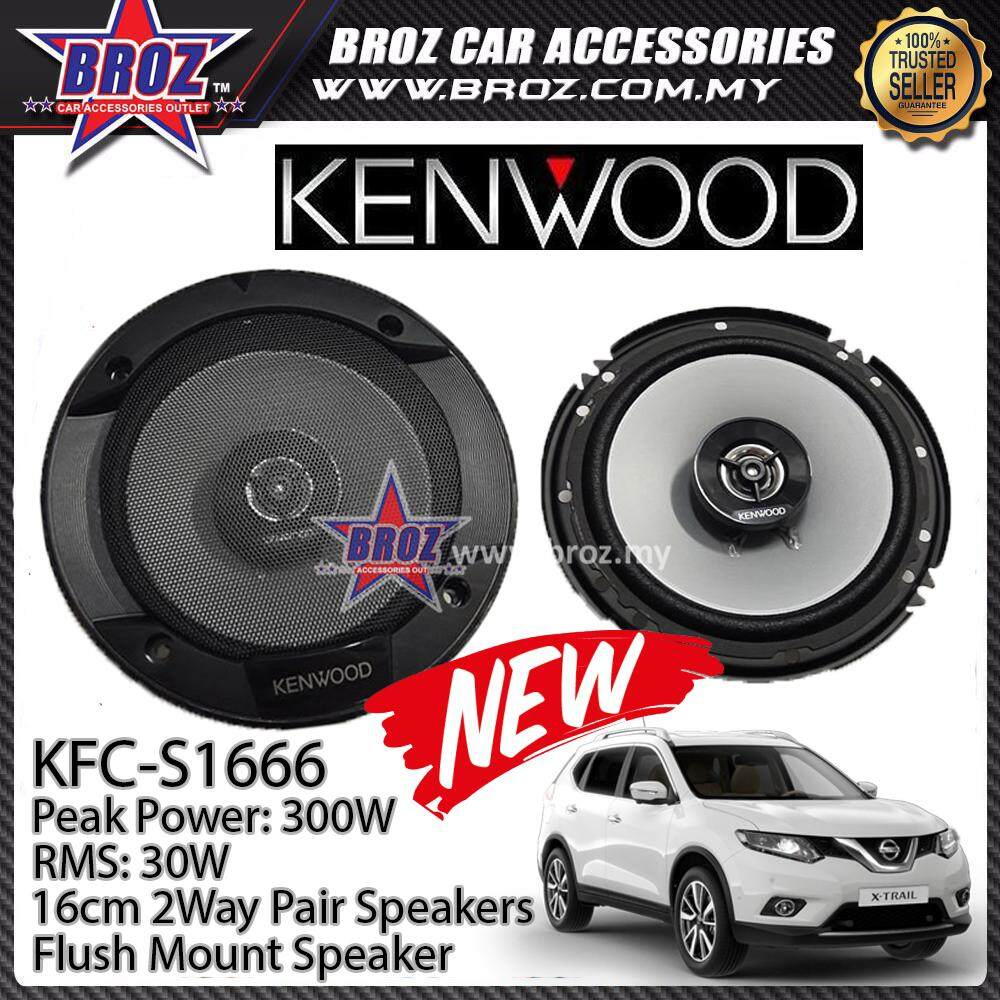 Broz Nissan X-Trail Rear Kenwood KFC-S1666 Stage Sound Series 2 Way Speakers