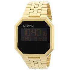 Nixon Watch Re-Run Gold Stainless-Steel Case Stainless-Steel Bracelet Mens NWT + Warranty A158502 Malaysia