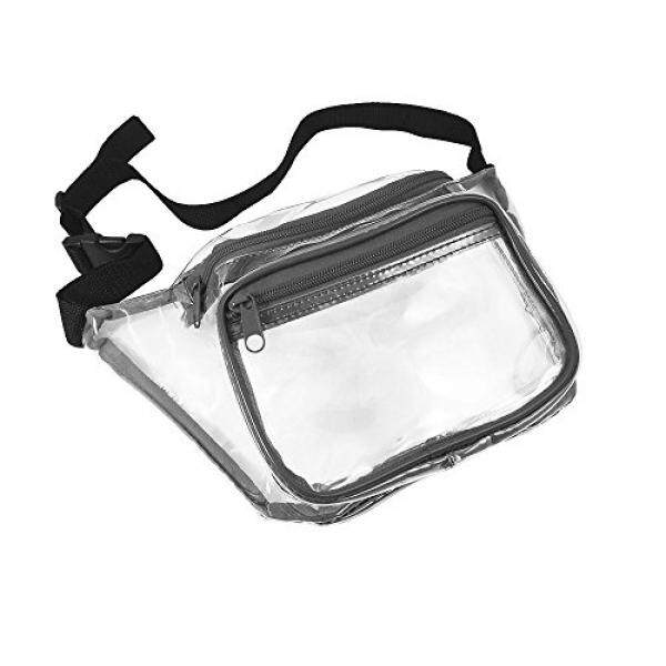 Nova Sport Wear Clear Fanny Pack Stadium Security Approved Waist Bag for Events, Games, and Concerts Transparent (Gray) - intl