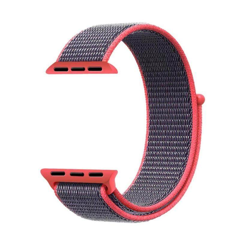 Nylon Sport Loop with Hook and Loop Fastener Adjustable Closure Wrist Strap Replacment Band for iwatch Apple Watch Series 1 2 3 42mm Malaysia