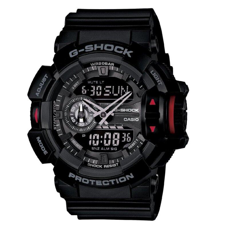 (OFFICIAL MALAYSIA WARRANTY) Casio G-SHOCK GA-400-1B Black & Red Mens Resin Watch (Black & Red) Malaysia