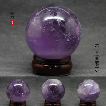 Opening of pure natural amethyst ball ornaments wisdom crystalanti-radiation feng shui evil natural amethyst craft products
