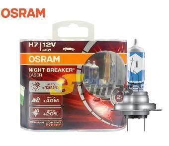 sell osram night breaker laser premium h7 130 headlight xenon halogen car bulb 1set in. Black Bedroom Furniture Sets. Home Design Ideas