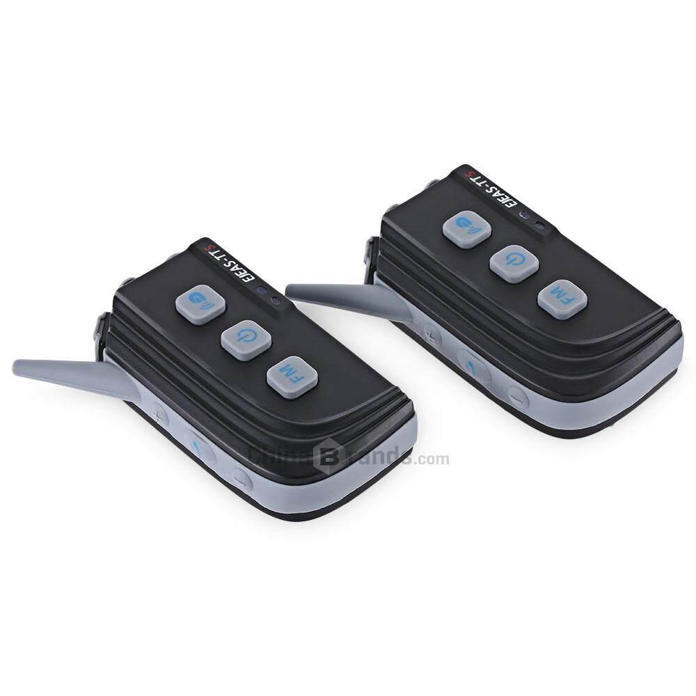 Pair of EJEAS - TTS Motorcycle Bluetooth 4.0 Intercom Four People Full Duplex Talking Waterproof Inter-phone - intl
