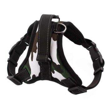 Panda Online Adjustable Pet Puppy Large Dog Harness For Animals Walk Out Hand Strap Belt Green