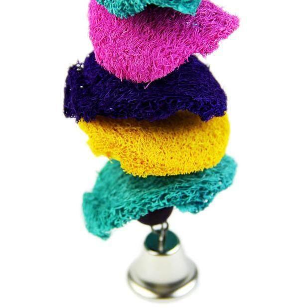 Parrot Toy Bird Cage Cockatoo Conure Grasp Chew Loofah Sponge Bite-resistant - intl