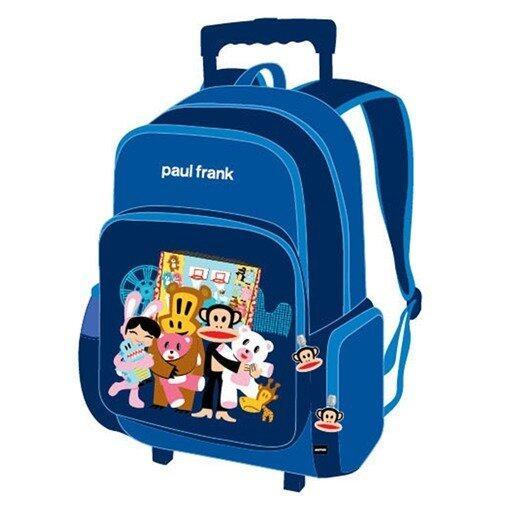 Paul Frank School Trolley Bag 16 Inches - Blue Colour