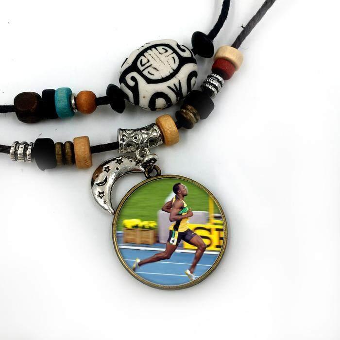 Liontin Kalung Bolt untuk Pria Wanita Perhiasan Modis Berlapis Perak Berlapis Perak Bulan Bermanik-manik Facebook Katun Tali Kunci Keren Perhiasan internasional