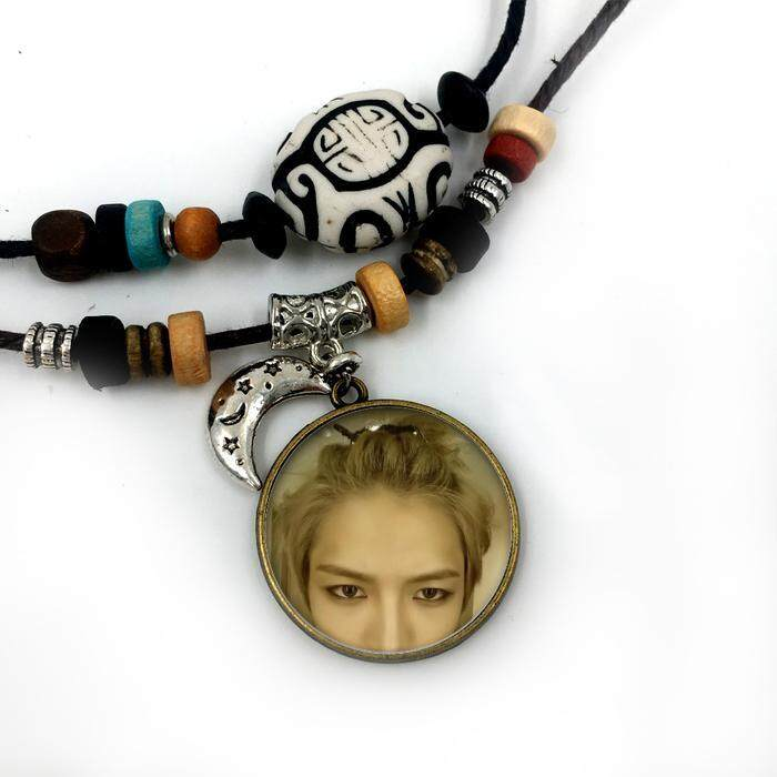 Liontin Kalung Gold Dalam untuk Pria Wanita Perhiasan Modis Berlapis Perak Berlapis Perak Bulan Bermanik-manik Facebook Katun Tali Kunci Keren perhiasan-Internasional