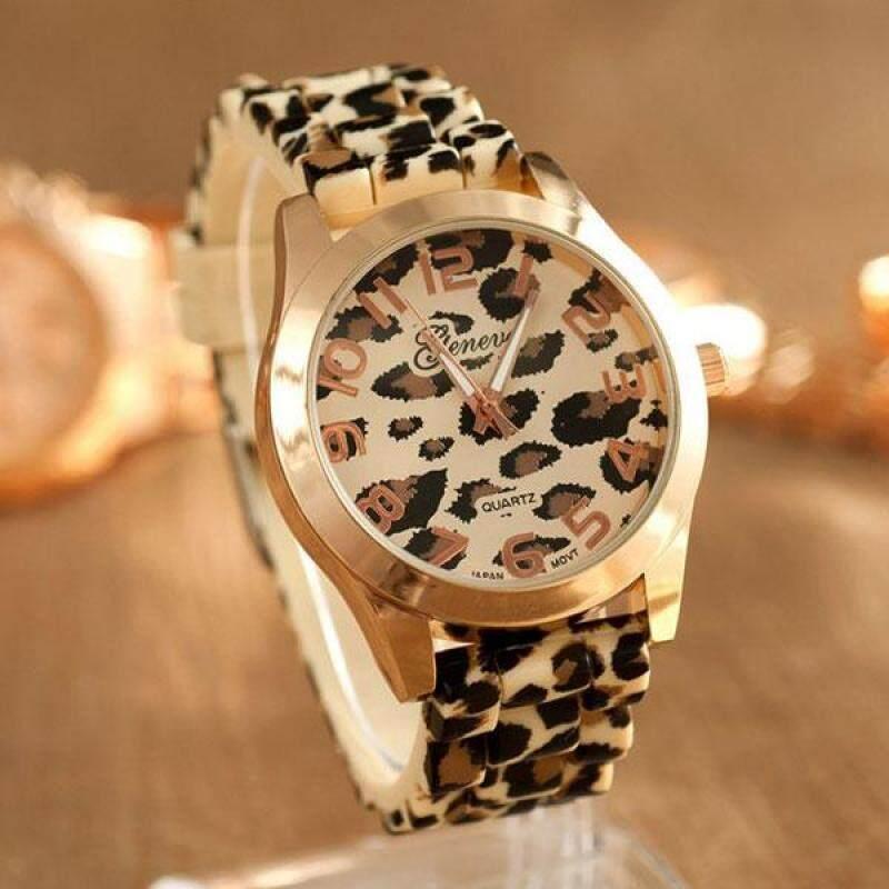 PerfectWorld Fashion Leopard Wrist Watch Silicon Band Wristband Bracelet Girl Women Gift Malaysia