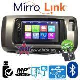 "Broz Perodua Alza Plug And Play OEM 7"" Mirror Link BT USB MP5 Player +Free Camera"