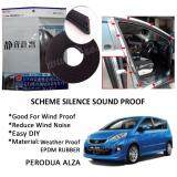 Perodua Alza SCHEME SILENCE (Double D) DIY Air Tight Slim Rubber Seal Stripe Sound & Wind Proof & Sound Proof for Car (4 Doors)